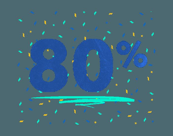 Keep 80% with Snap! Raise